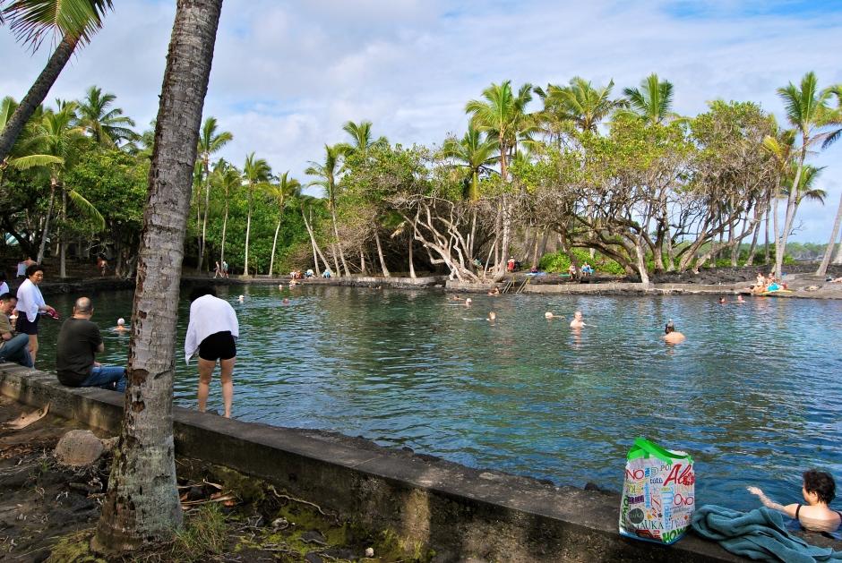 Ahalanui Hot Pond - Puna District, Hilo, The Big Island - Hawaii